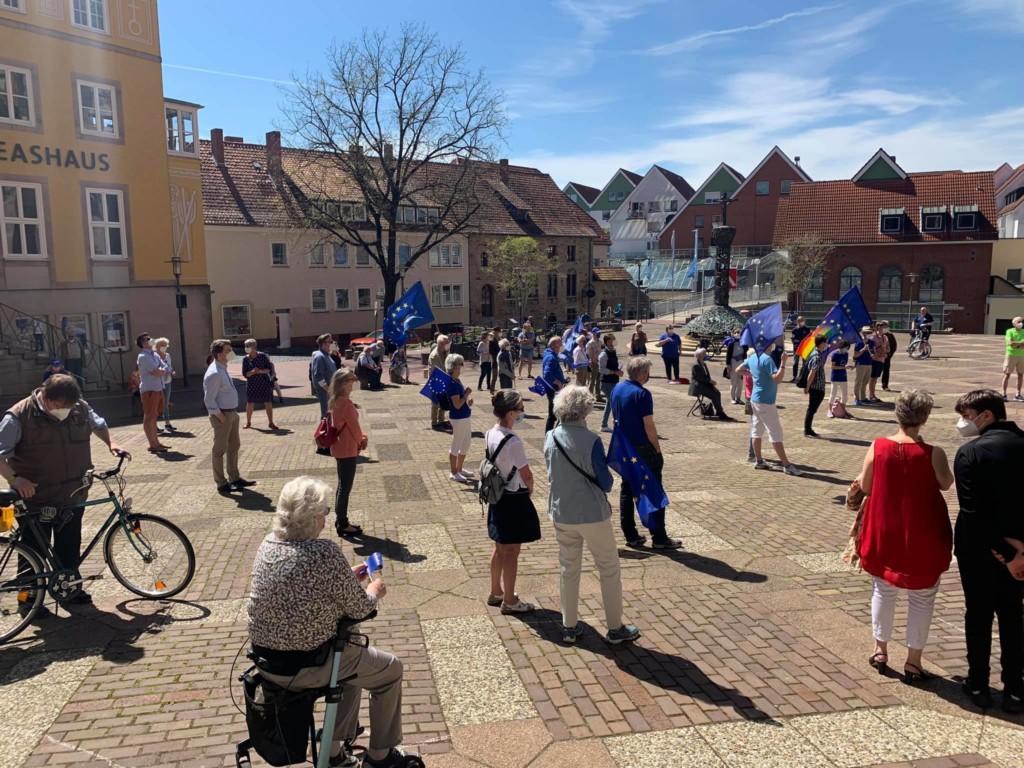 Kundgebung von Pulse of Europe auf dem Andreasplatz
